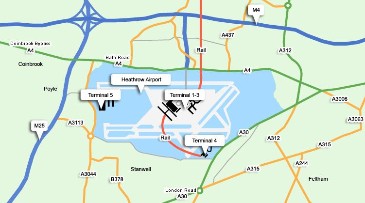 London Heathrow Map